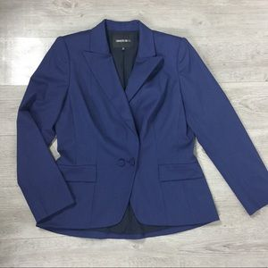 Lafayette 148 Blue Wool Blazer